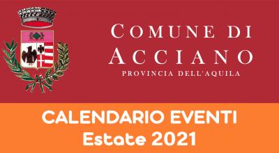 CALENDARIO DEGLI EVENTI ESTIVI 2021